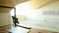 Laminate flooring timelapse video