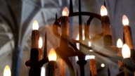 lamp in cathedral video