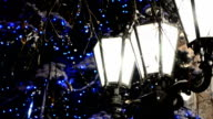 Lamps in the winter. video