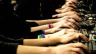 Lan Gamers Close Hands video