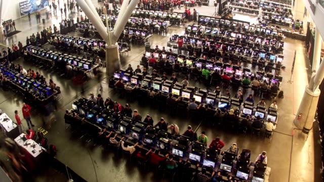 Lan Gamers Overhead video