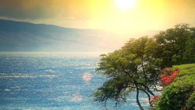 Lanai from Maui Sunset video