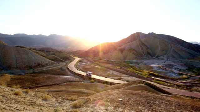 Landform in zhangye Shanxi 4k video