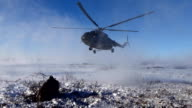 Landing a helicopter on the tundra video