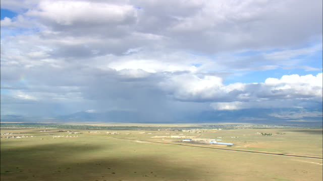 Landing At Belen Airport  - Aerial View - New Mexico, Valencia County, United States video