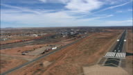 Landing At Winslow Airport  - Aerial View - Arizona,  Navajo County,  United States video
