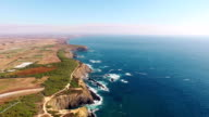 Land's End - the west coast of Portugal aerial view video
