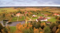Landscape aerial shot of the Palmse manor video