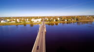 Landscape aerial view of the city of Parnu video