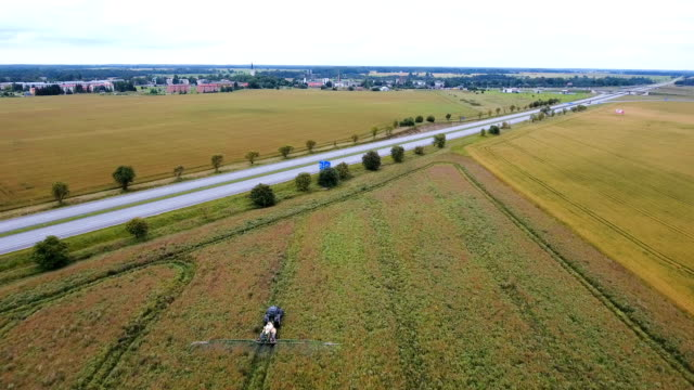 Landscape aerial view of the wide agri field video
