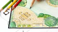 Landscape architect design L shape garden plan video