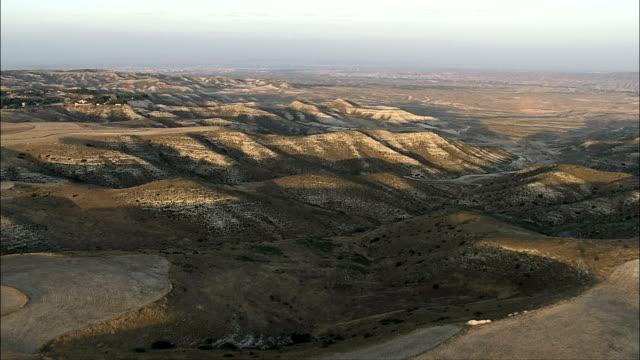 Landscape at dusk - Aerial View - Aragon, Saragossa, Zaragoza, Spain video