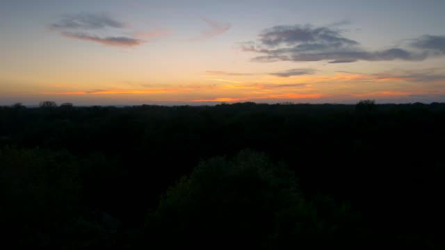 AERIAL Landscape At Dusk video
