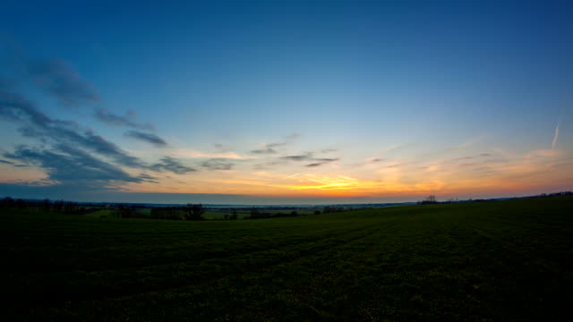 HD TIME-LAPSE: Landscape At Dusk video