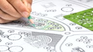 Landscape Designs Blueprints For Resort. video