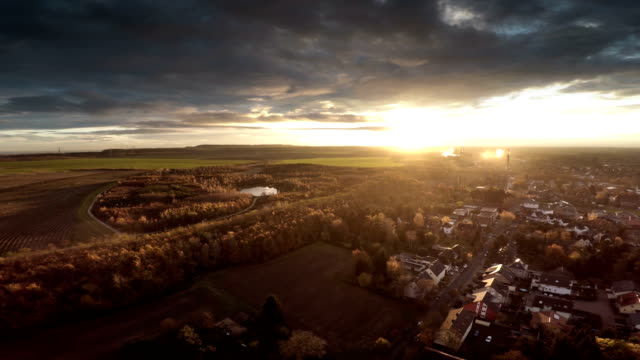 AERIAL : Landscape in Germany with Town video
