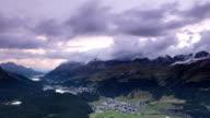 Landscape in St Moritz Switzerland video