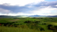 Landscape in Tuscany with the house and vineyards video