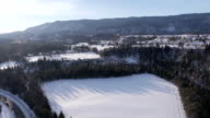 AERIAL: Landscape in winter video