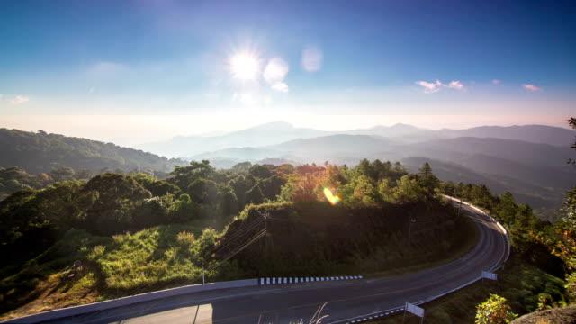Landscape Inthanon mountain at sunrise video