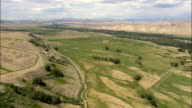 Landscape near Crowheart - Aerial View - Wyoming,  Fremont County,  helicopter filming,  aerial video,  cineflex,  establishing shot,  United States video