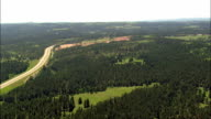landscape near Rapid City - Aerial View - South Dakota,  Pennington County,  United States video