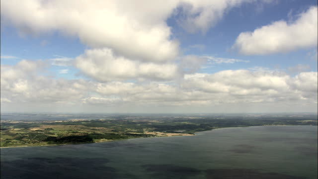 Landscape Of Farms West Of Horsens  - Aerial View -, Denmark video