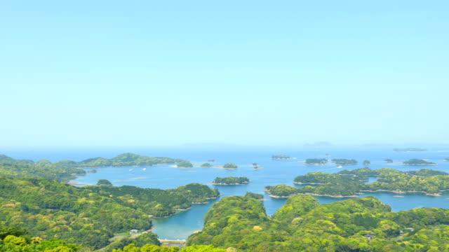 landscape of Kujukujima Islands In Japan video