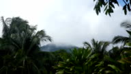 Landscape of mountains and sky.Camiguin island video