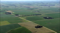 Landscape Of Small Farms  - Aerial View - South Dakota, Hamlin County, United States video