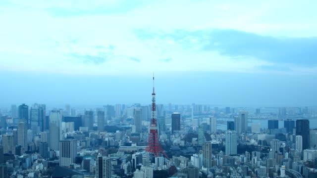 landscape of Tokyo city video