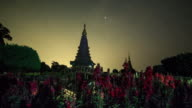 Landscape of two pagoda at Inthanon mountain video