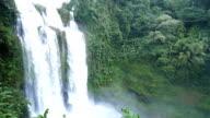 Landscape of waterfall in Champasak, Laos video