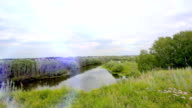 Landscape .Panorama of the nature with river, road and field video