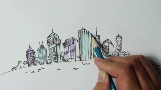 Landscape sketches,Hand-painted video