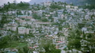 Landscape view of a city in mountain. video