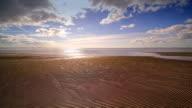 Landscape view of the beach horizon video