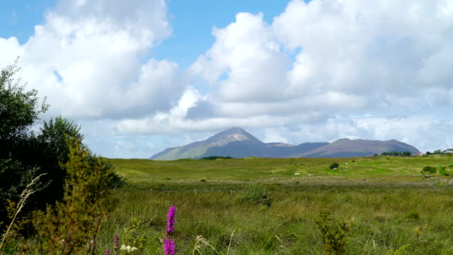 Landscape view of the big mountain  Ireland video