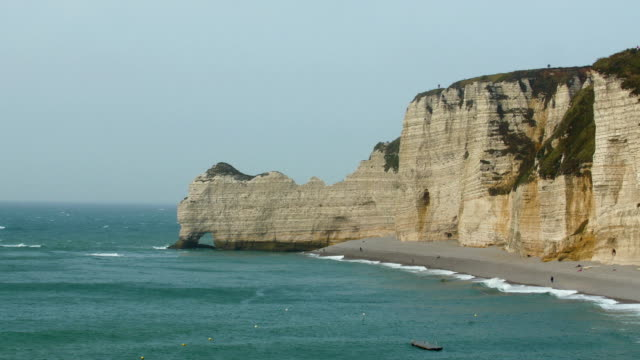 Landscape view of the cliff and the sea video