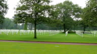 Landscape view of the Normandy American Cemetery video