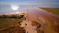 Landscape view of the sea horizon video