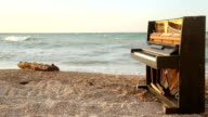 landscape with an old piano video