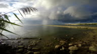 Landscape with cement pier in Curonian Lagoon video
