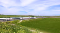 landscape with high speed train video