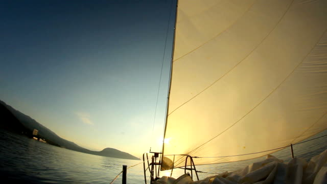 landscape with sails and sun video