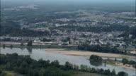 Langeais - Aerial View - Centre, Indre and Loire, Arrondissement de Chinon, France video