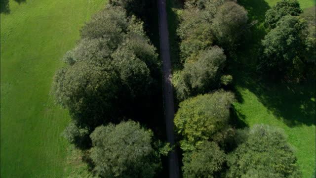 Lanhydrock House  - Aerial View - England, Cornwall, Lanhydrock, United Kingdom video