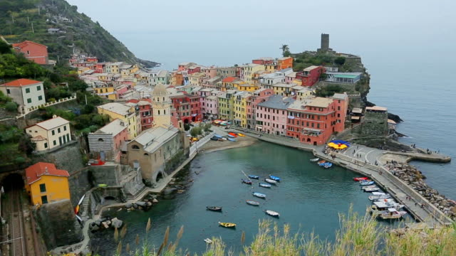 Lanscape of Vernazza in Cinque Terre, Italy. video