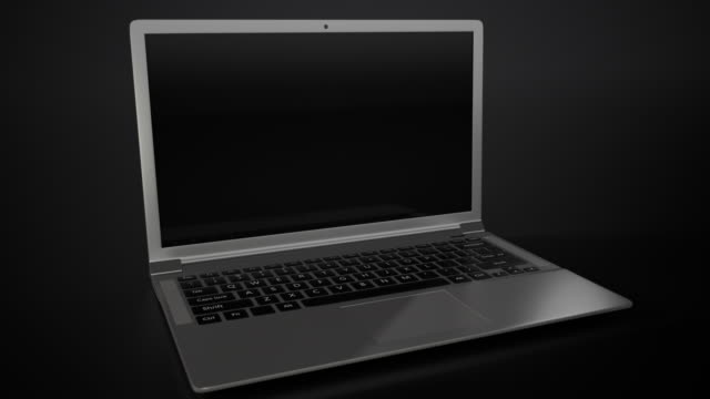Laptop 4K with black background video