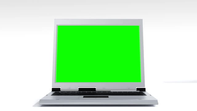 Laptop animation green screen video